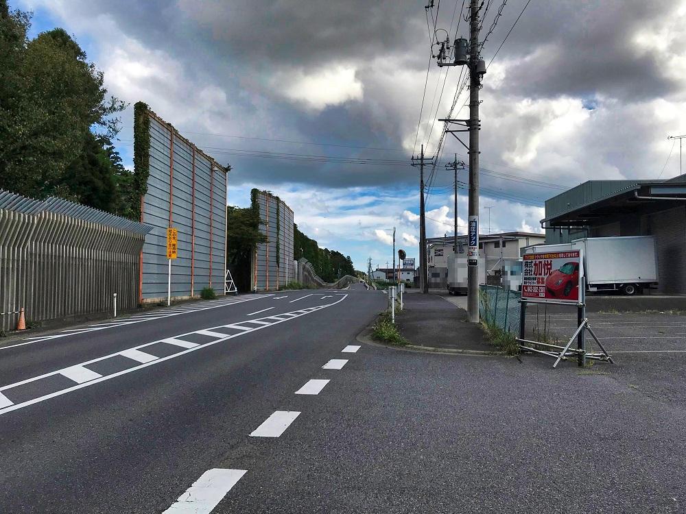 9秒カレー成田三里塚店からゲートを見る