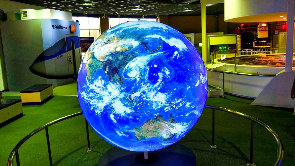 航空科学博物館の地球儀