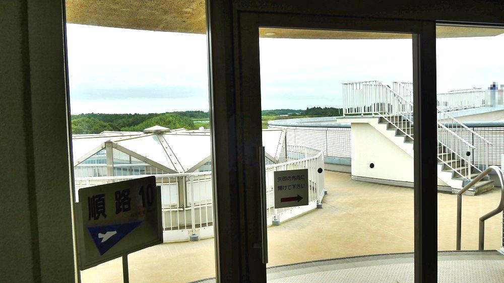 航空科学博物館の3F展望台スペース入口