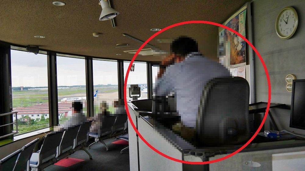 航空科学博物館5Fの管制官風解説