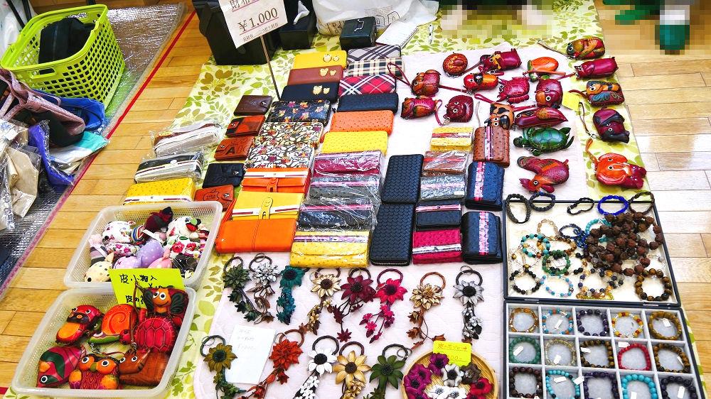 成田市リサイクルプラザの「フリ-マーケットと再生品即売会」手芸品