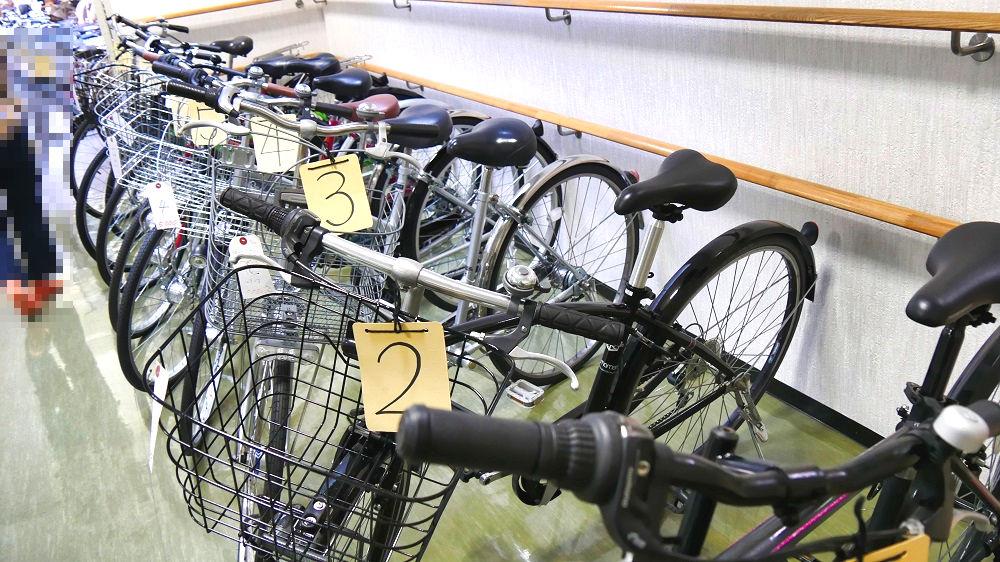 成田市リサイクルプラザの「フリ-マーケットと再生品即売会」自転車