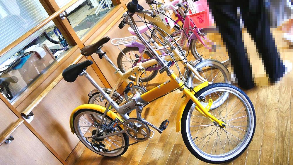 成田市リサイクルプラザの「フリ-マーケットと再生品即売会」折り畳み自転車