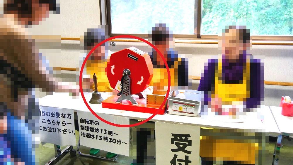 成田市リサイクルプラザの「フリ-マーケットと再生品即売会」抽選会