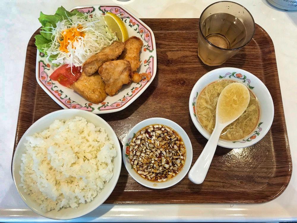 『餃子の王将』富里店の唐揚定食