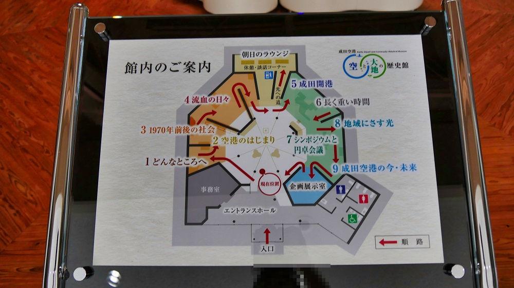 『空と大地の歴史館』の館内図
