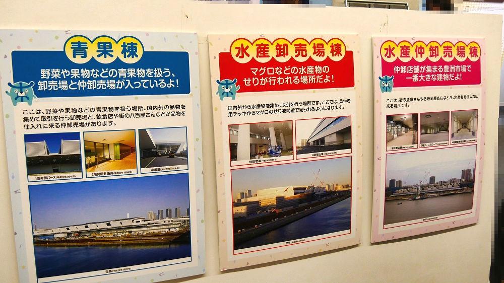 豊洲市場施設管理棟、主要3棟の説明