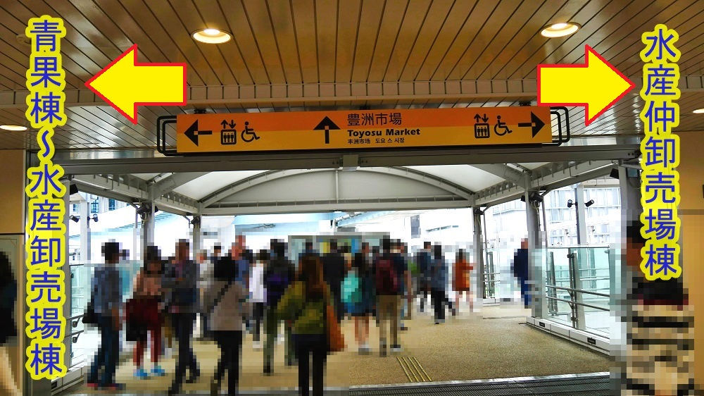 「ゆりかもめ」市場前駅の出口