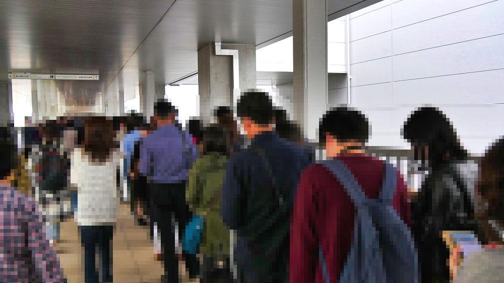 豊洲市場水産仲卸売場棟の人混み
