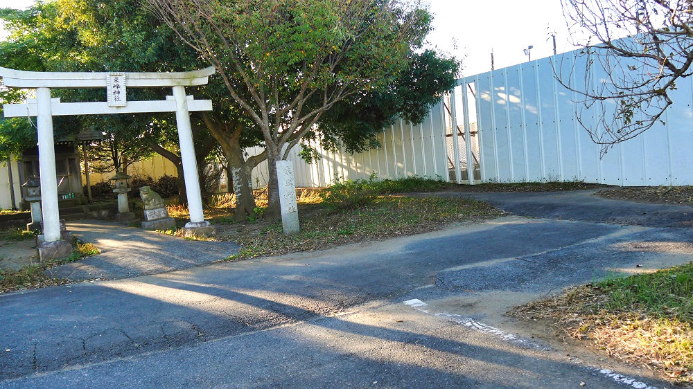 東峰神社の駐車スペース