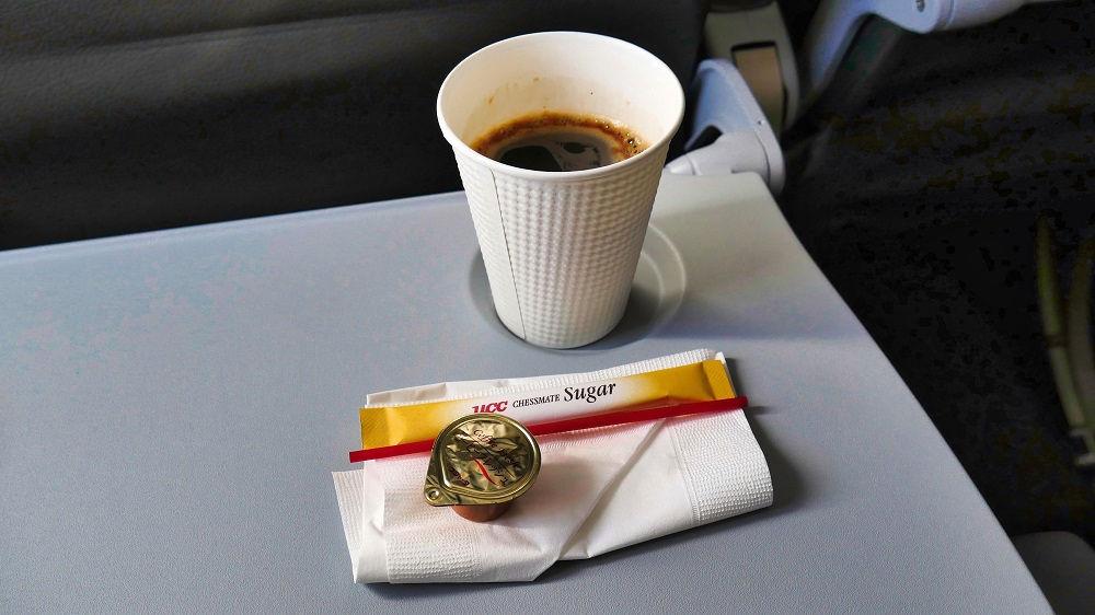 ジェットスター機内のホットコーヒー