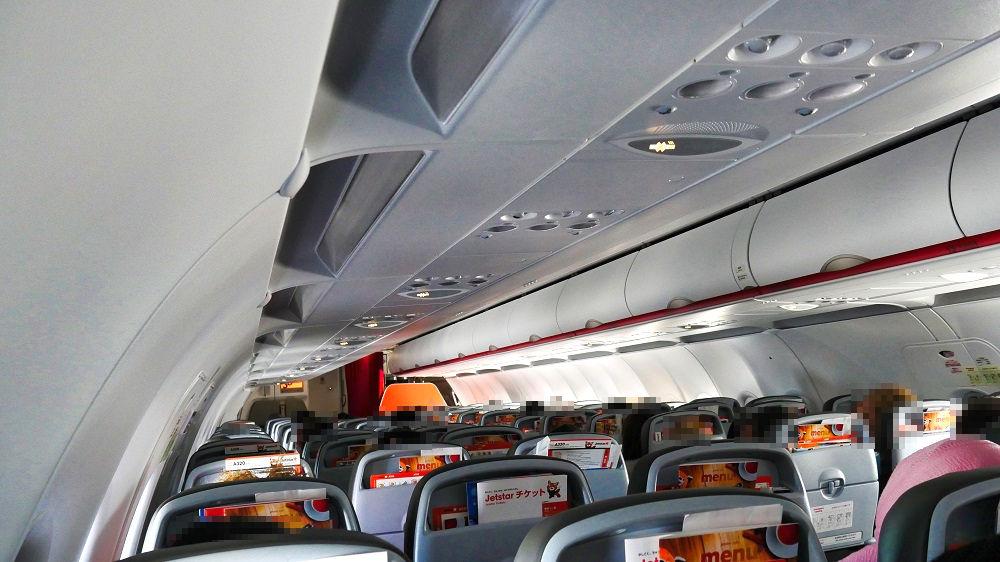 ジェットスターGK113便の機内