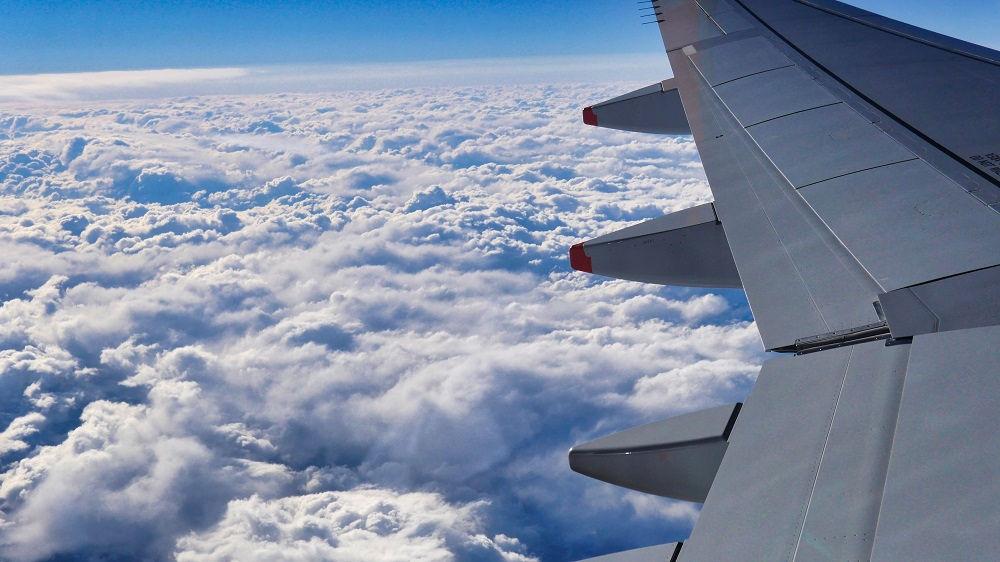 ジェットスターGK113便、窓からの風景