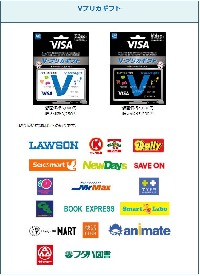 Vプリカギフトで購入する方法