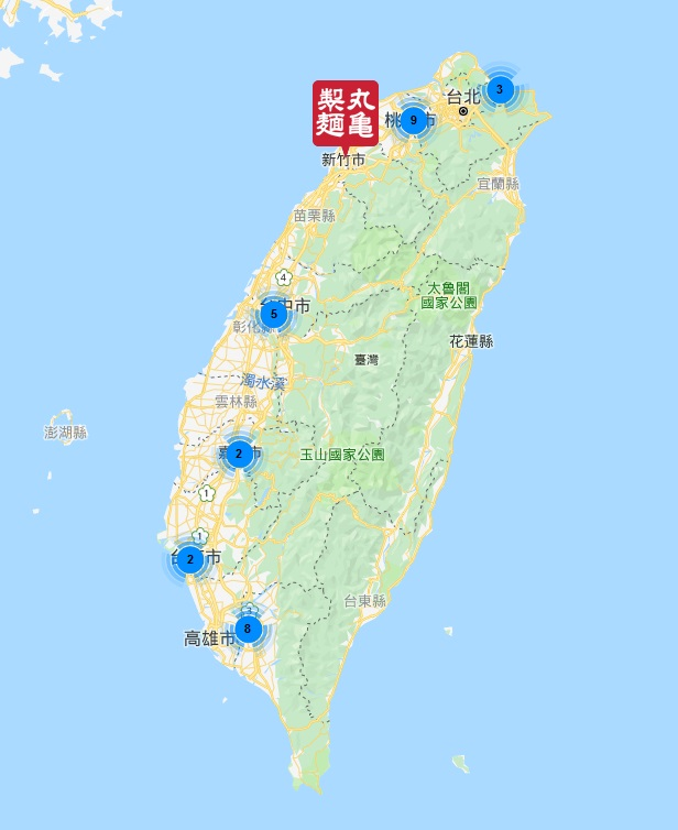 丸亀製麺の台湾展開状況