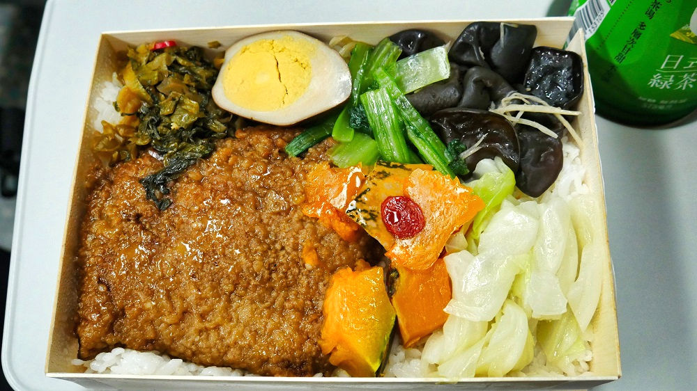 台湾新幹線の香滷肉排便當
