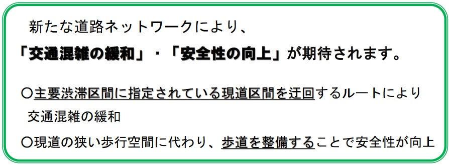 県道成田両国線バイパス開通の効果