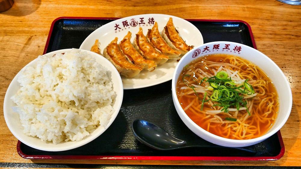 大阪王将の「餃子ラーメンセット」