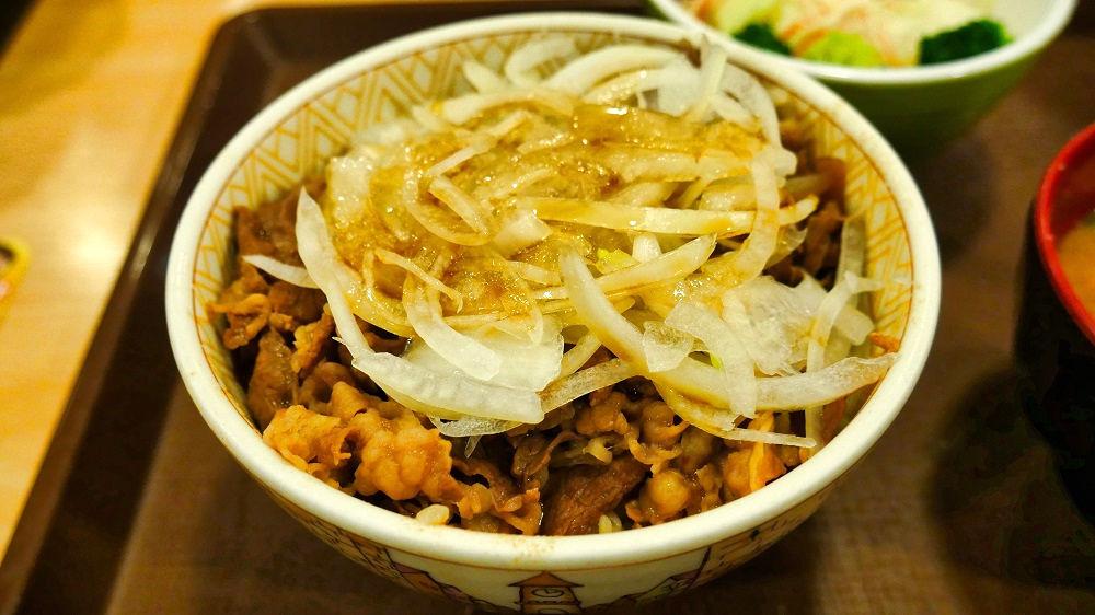 すき家の和風オニサラ牛丼