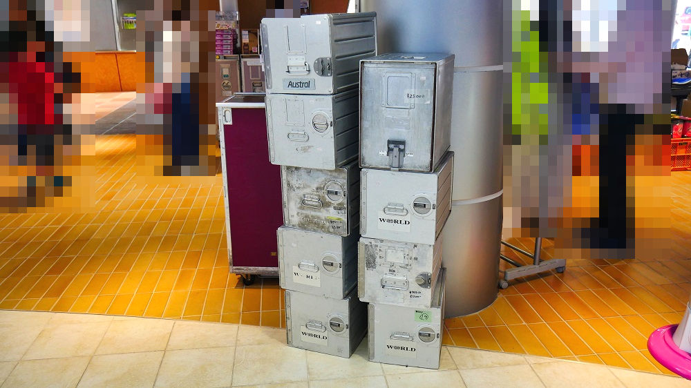 エアロマーケットの展示販売品「機内食用ボックス」