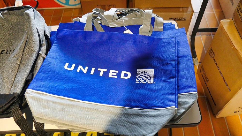 エアロマーケットの展示販売品「ユナイテッド航空のバッグ」