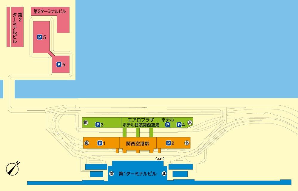 関西国際空港の配置図