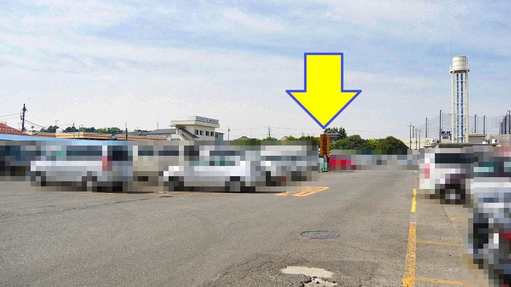 成田市場の一般訪問者用の駐車場