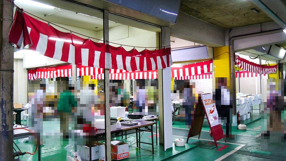 成田市場の関連食品棟のイベント会場