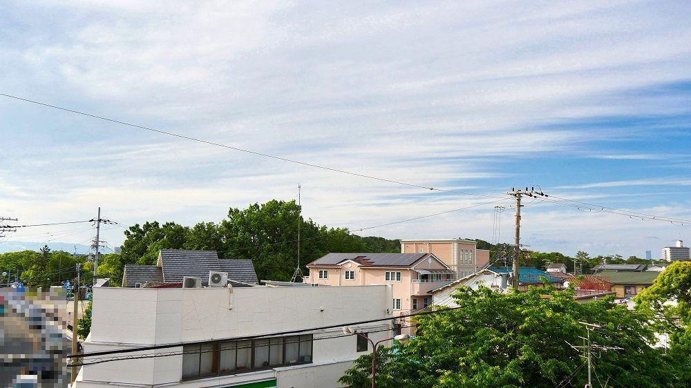 JR百舌鳥駅南側の陸橋の上からの眺望