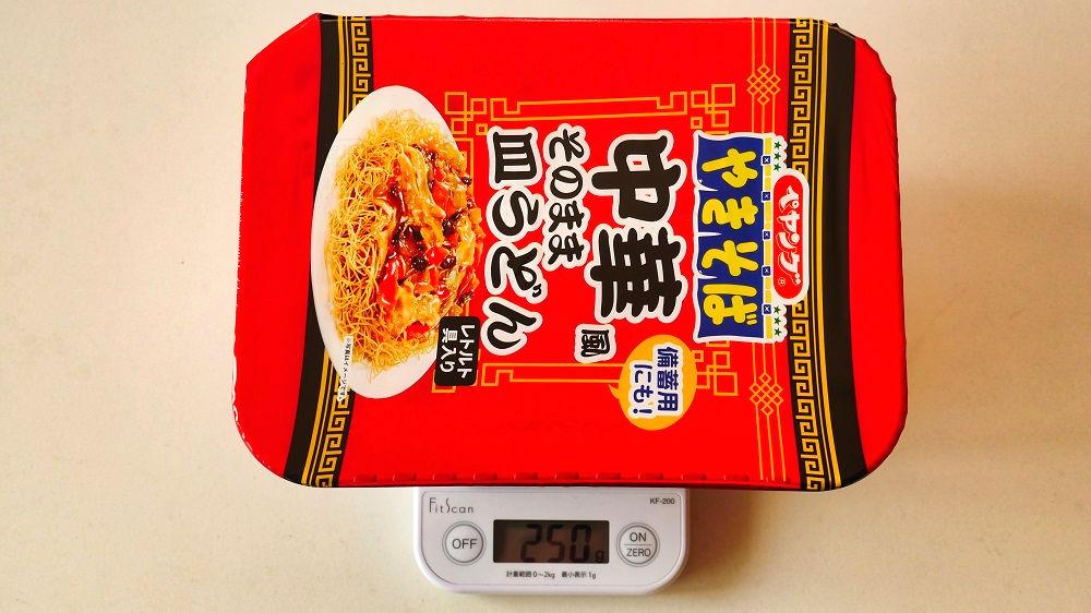 ペヤング中華風そのまま皿うどんの重量は250g