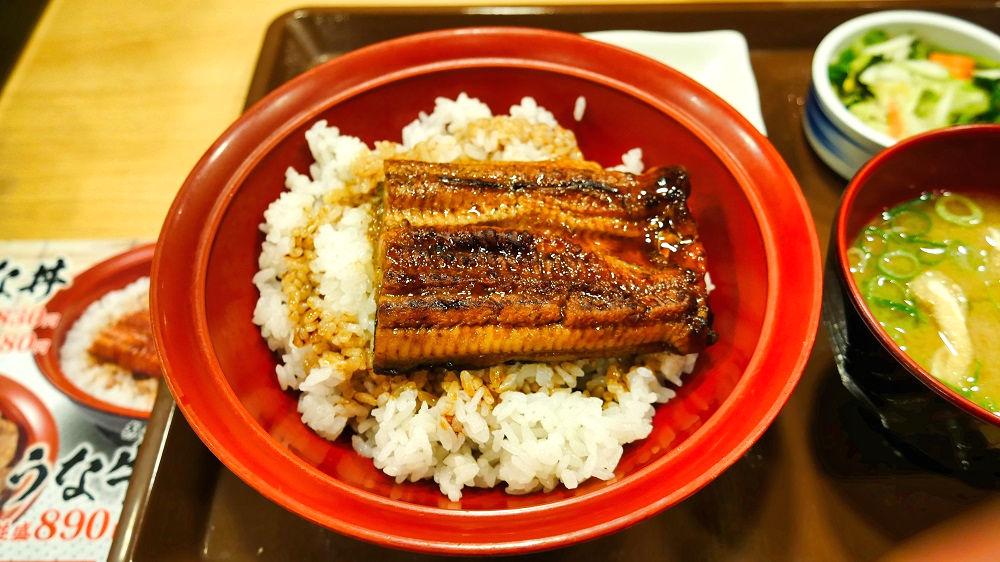 すき家「東京駅京橋店」でうな丼を実食