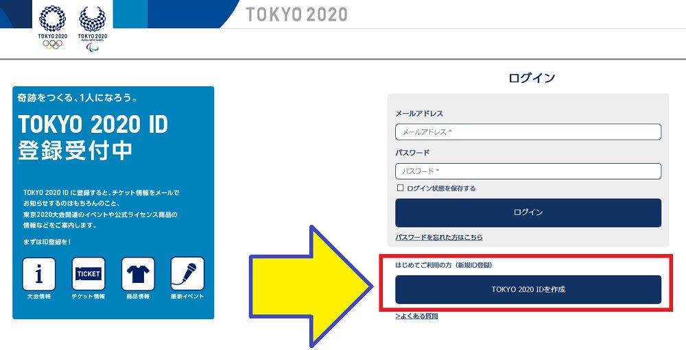TOKYO 2020 ID 登録