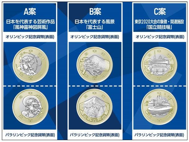 2020年東京オリンピック・パラリンピック競技大会記念貨幣「五百円貨」のデザイン案