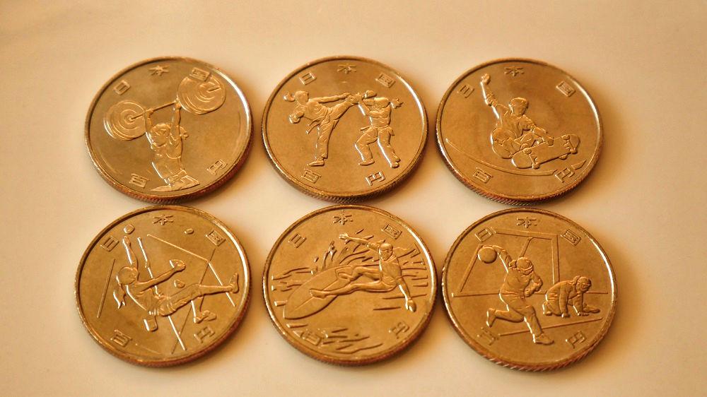東京オリンピック・パラリンピック競技大会記念貨幣(百円クラッド貨幣)第2弾の表面