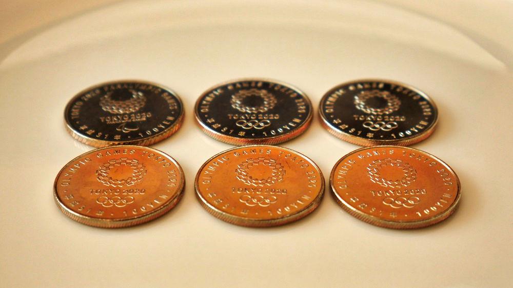 東京オリンピック・パラリンピック競技大会記念貨幣(百円クラッド貨幣)第2弾の側面