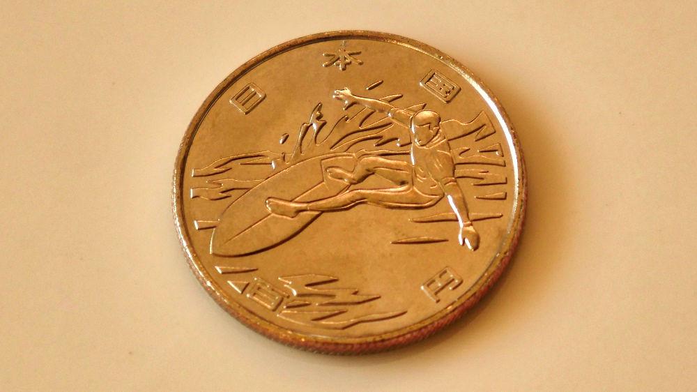 東京オリンピック・パラリンピック競技大会記念貨幣(百円クラッド貨幣)第2弾「サーフィン」