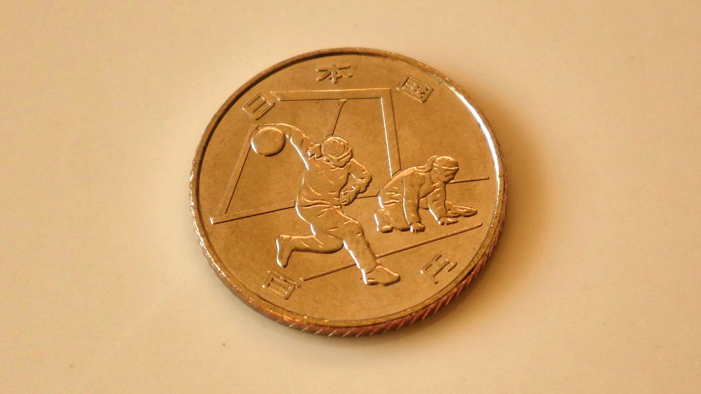東京オリンピック・パラリンピック競技大会記念貨幣(百円クラッド貨幣)第2弾「ゴールボール」