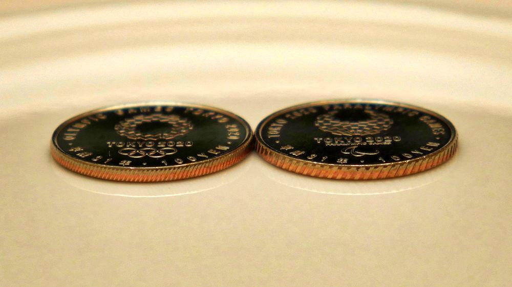 東京オリンピック・パラリンピック競技大会記念貨幣(百円クラッド貨幣)第2弾の斜めギザ