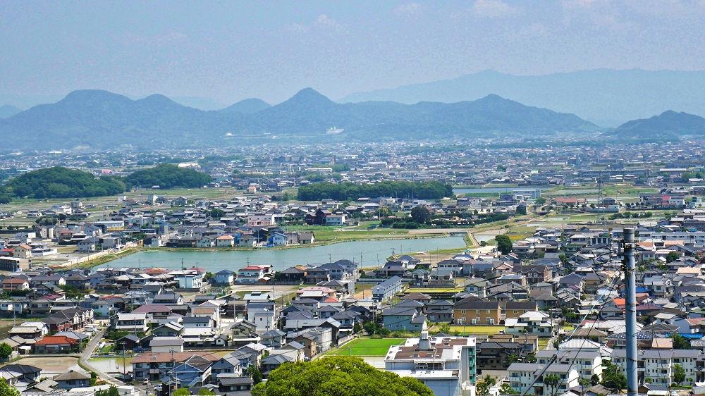 丸亀城から見た讃岐平野