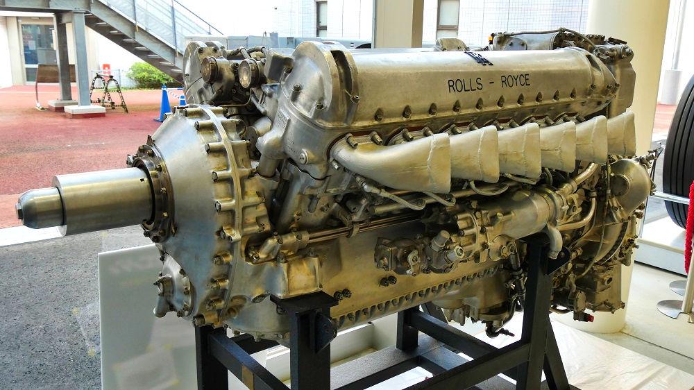 航空科学博物館の体験館【1階】マーリンエンジン