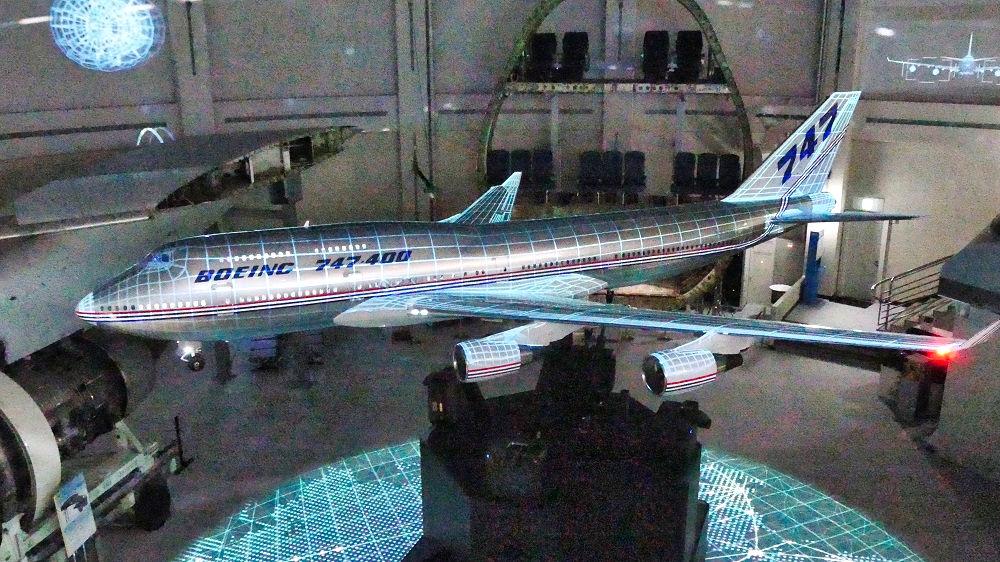 航空科学博物館の【西棟】2階から見た様子