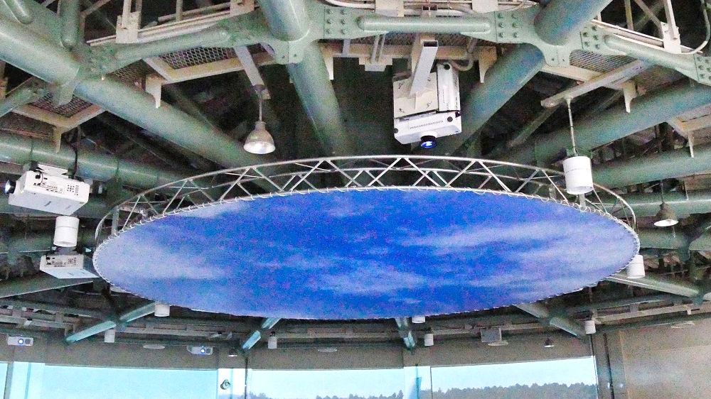 航空科学博物館の【西棟】天井のプロジェクター