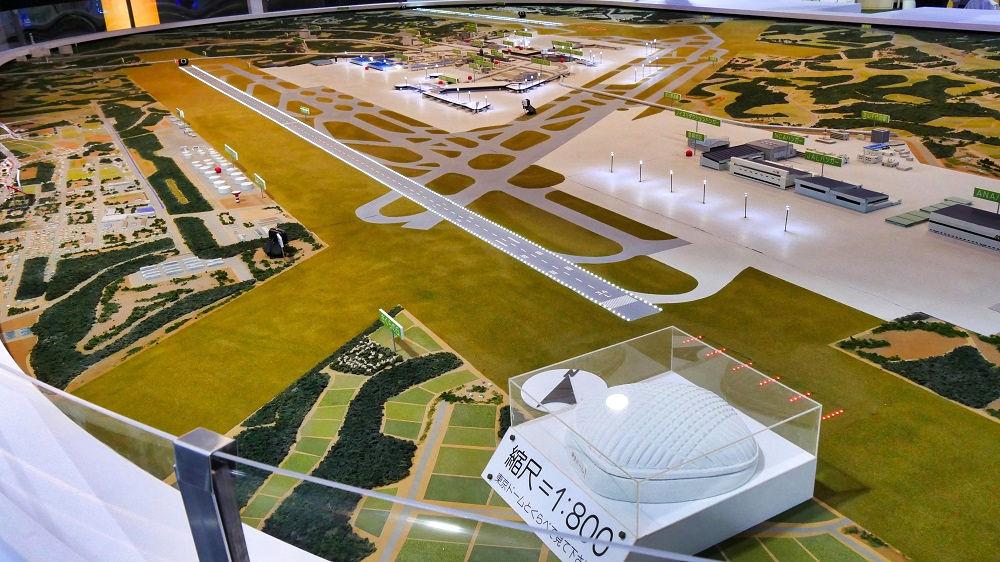 航空科学博物館の【東棟】成田空港の説明部分