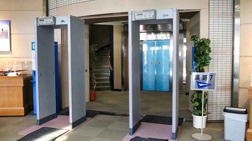 航空科学博物館の【中央棟】エレベーター入口