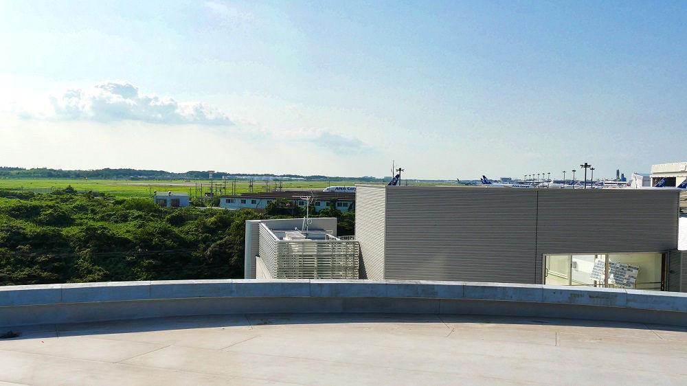 航空科学博物館の【中央棟3階】展望台
