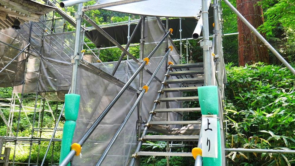 羽黒山五重塔特別拝観、2階部分へ