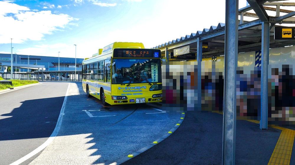 第2ターミナル行きのバス停