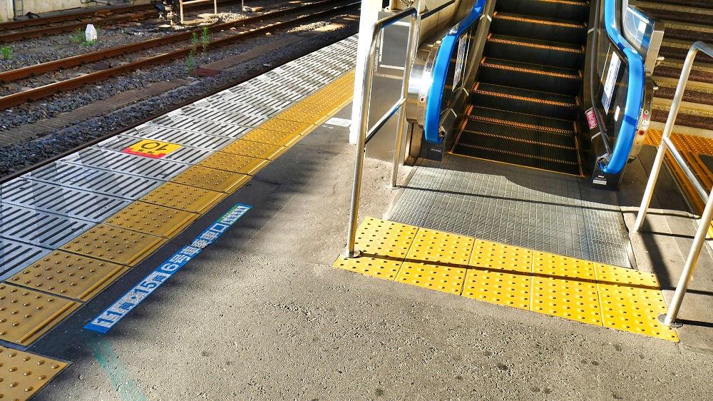 JR成田駅2番線のプラットホーム表示