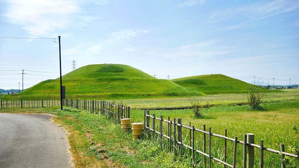 三昧塚古墳の全景を確認