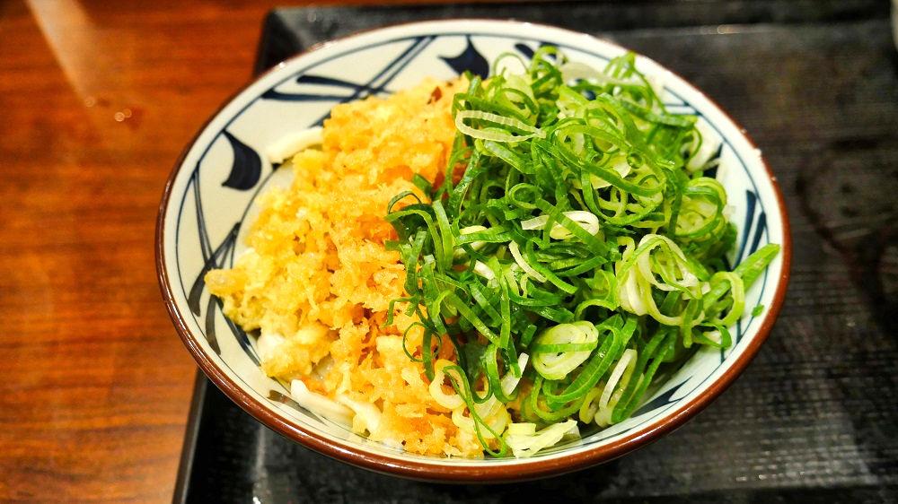丸亀製麺の「ぶっかけうどん(冷・並)」